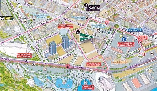 Nuevo mapa turstico 3D de Santa Cruz de Tenerife HOTELES Pinterest
