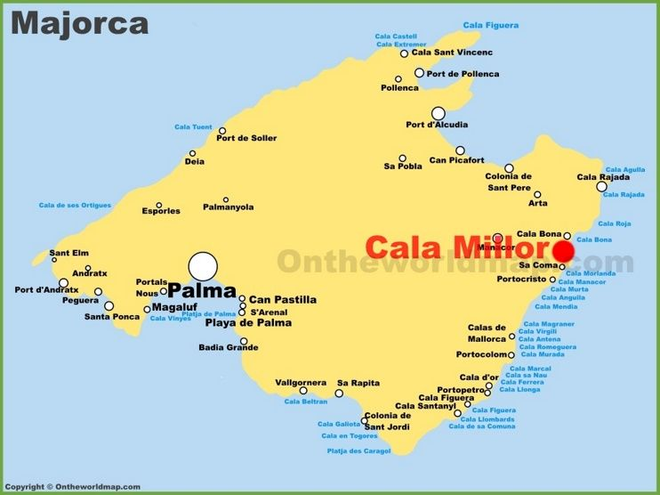 Cala Millor Location On The Majorca Map Majorca Balearic