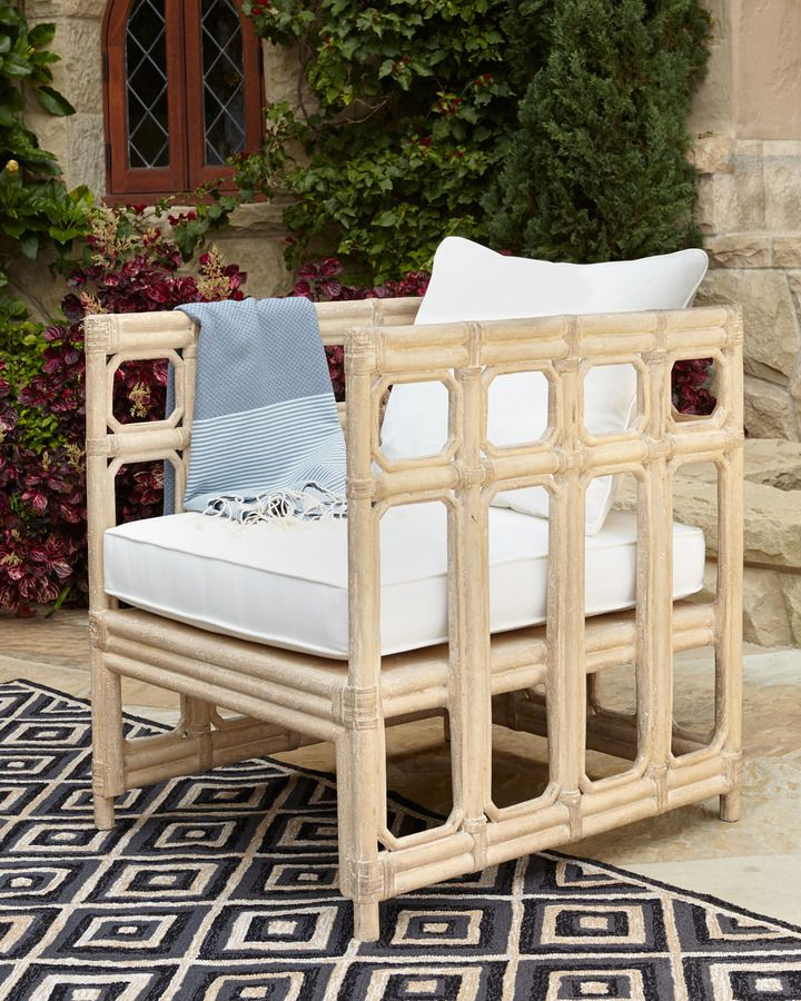 Buy Faux-Bamboo Outdoor Chair & Cushion at Horchow | JHD Project ...