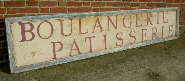 Antique French Boulangerie Patisserie Wooden Sign   SOLD