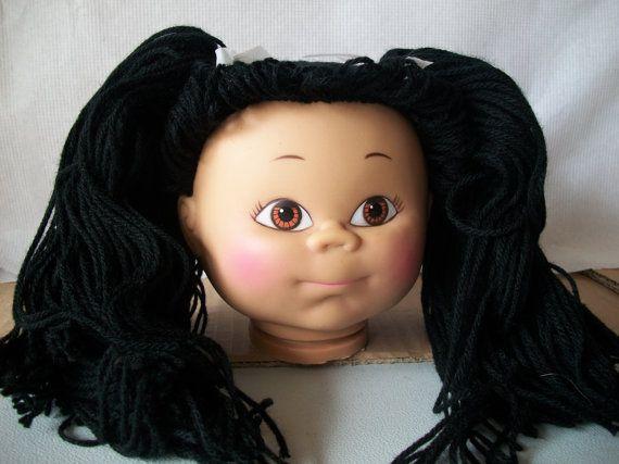 Vintage Plastic Vinyl Boxed Doll Head Foster By Mooglamom On Etsy Doll Head Soft Sculpture Dolls Dolls