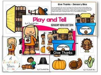 Give Thanks- Sensory Bin {Free}