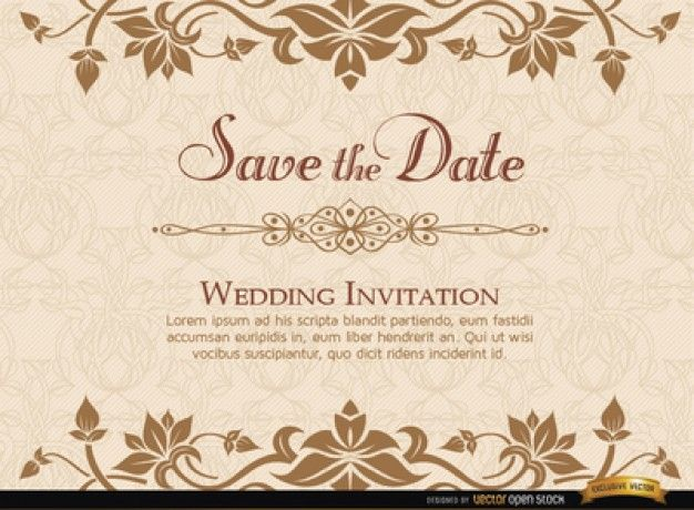 Invitaciones de boda GRATIS descarga estas plantillas de – Wedding Invitation Card Template