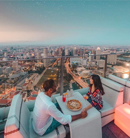 1 Altitude Highest Rooftop Bar In Singapore Pizza Date With A View