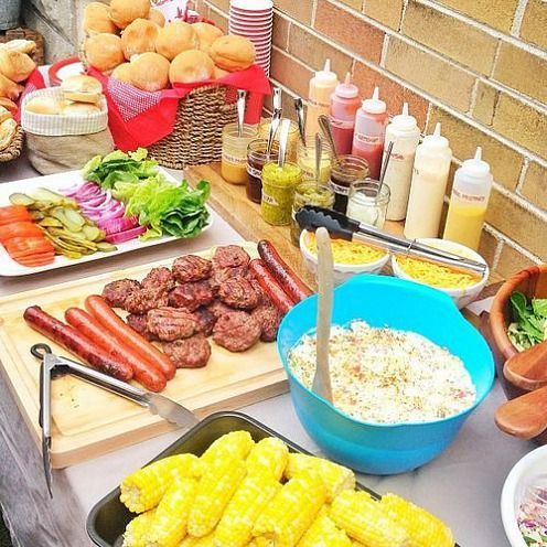 I love party food stations they can save you lots of time for Food bar party ideas