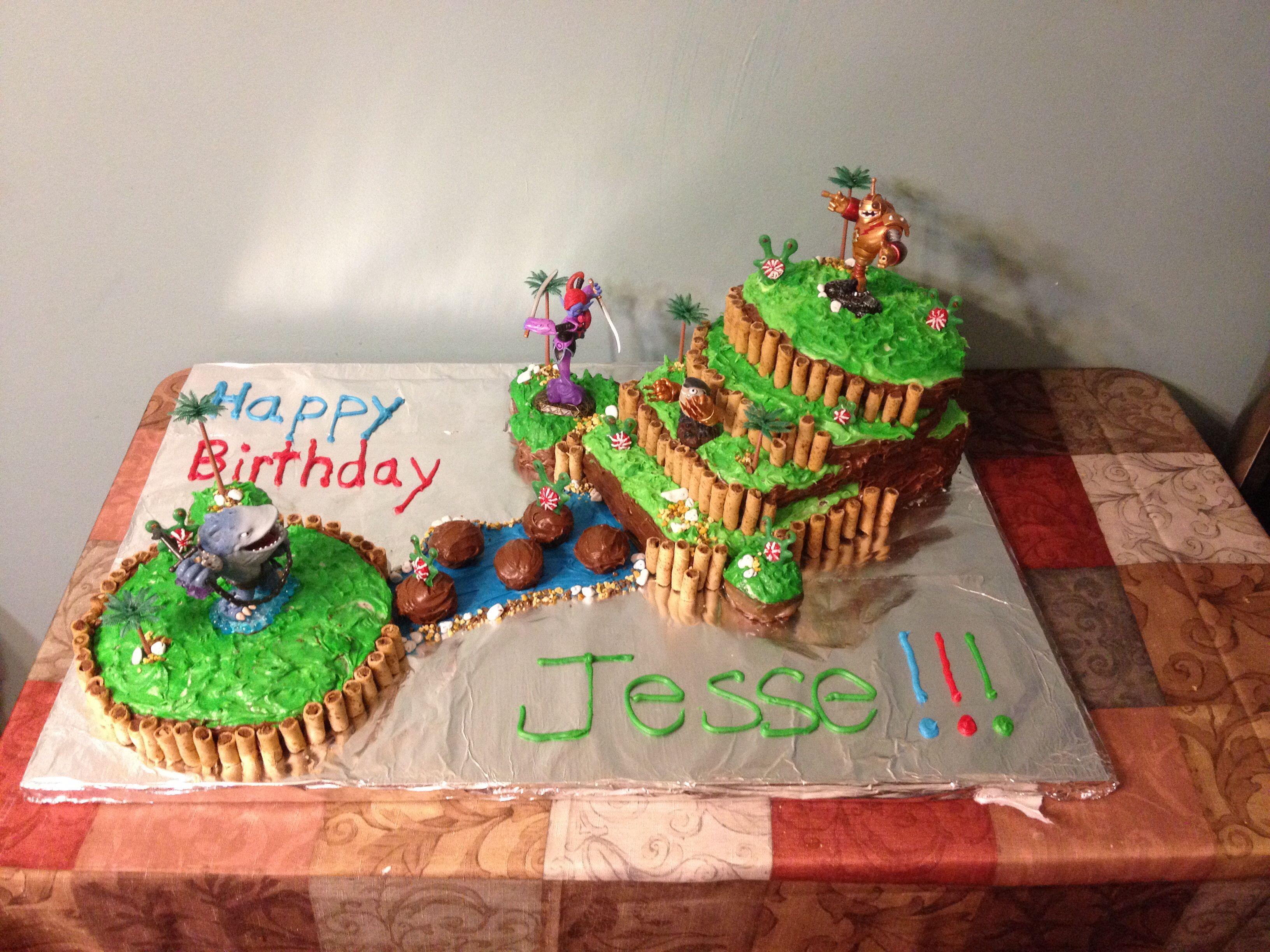 Skylander Cake Kade Skylanders Party Birthday Cake Cake