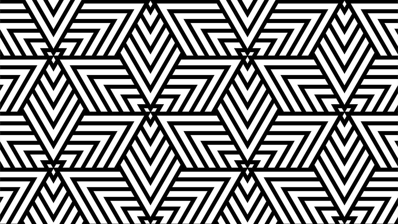 Geometric shapes design - Coreldraw Tutorials - black and white ... for Geometric Shapes Design Black And White  111bof