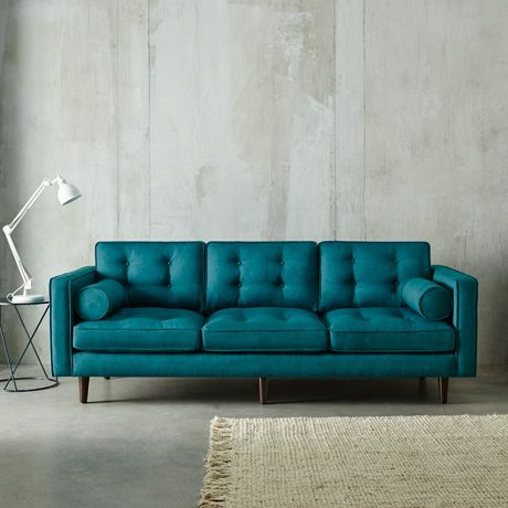 Buy one get one free on sofas at freedom furniture for Teal leather couch
