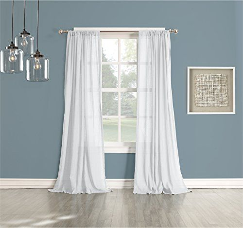 Amazing No 918 Cory Cotton Gauze Texture Semi Sheer Curtain Panel