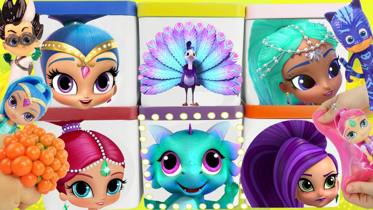 a68c355cafd SHIMMER and SHINE Game PJ MASKS Romeo Game Toy Surprise Blind Boxes! Disney  &