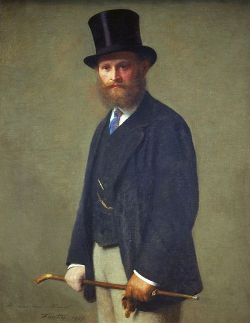Henri Fantin-Latour - Portrait of Edouard Manet (1867)    Chicago Art Institute