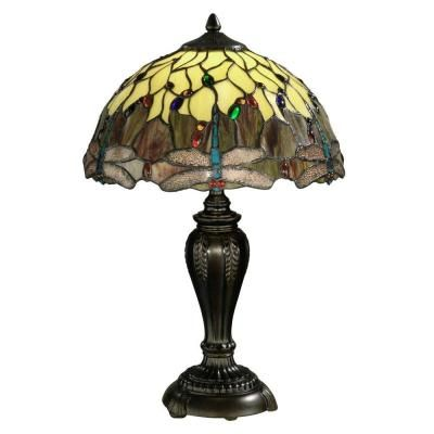 Dale Tiffany Dragonfly 22 in. Antique Bronze Table Lamp-FTT10015 - The Home Depot