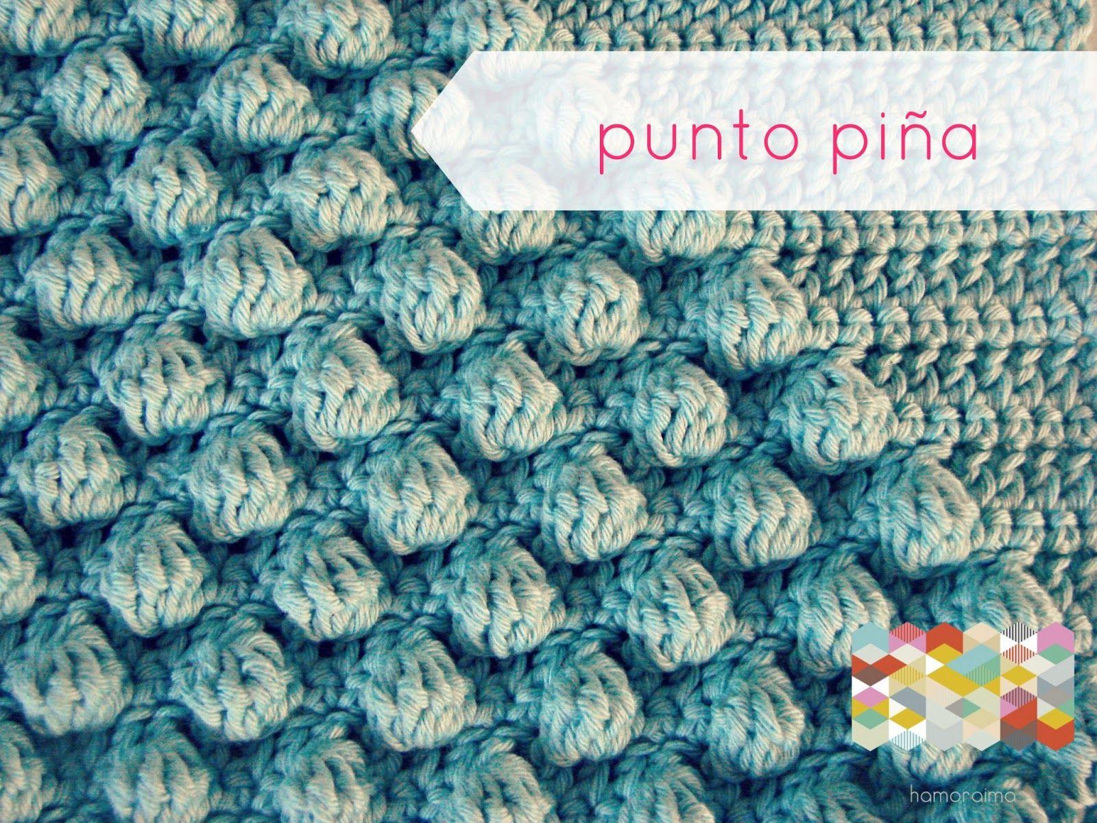 hamoraima: punto piña a ganchillo ♥   Crochet Technique & Tutorial ...