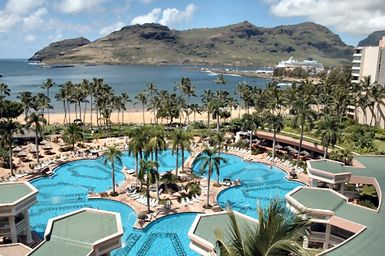 Overview Of The Kauai Marriott Resort And Beach Club