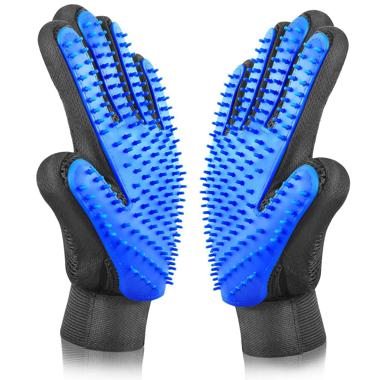 ASENKU Pet Grooming Glove Comfortable Efficient Pet Hair