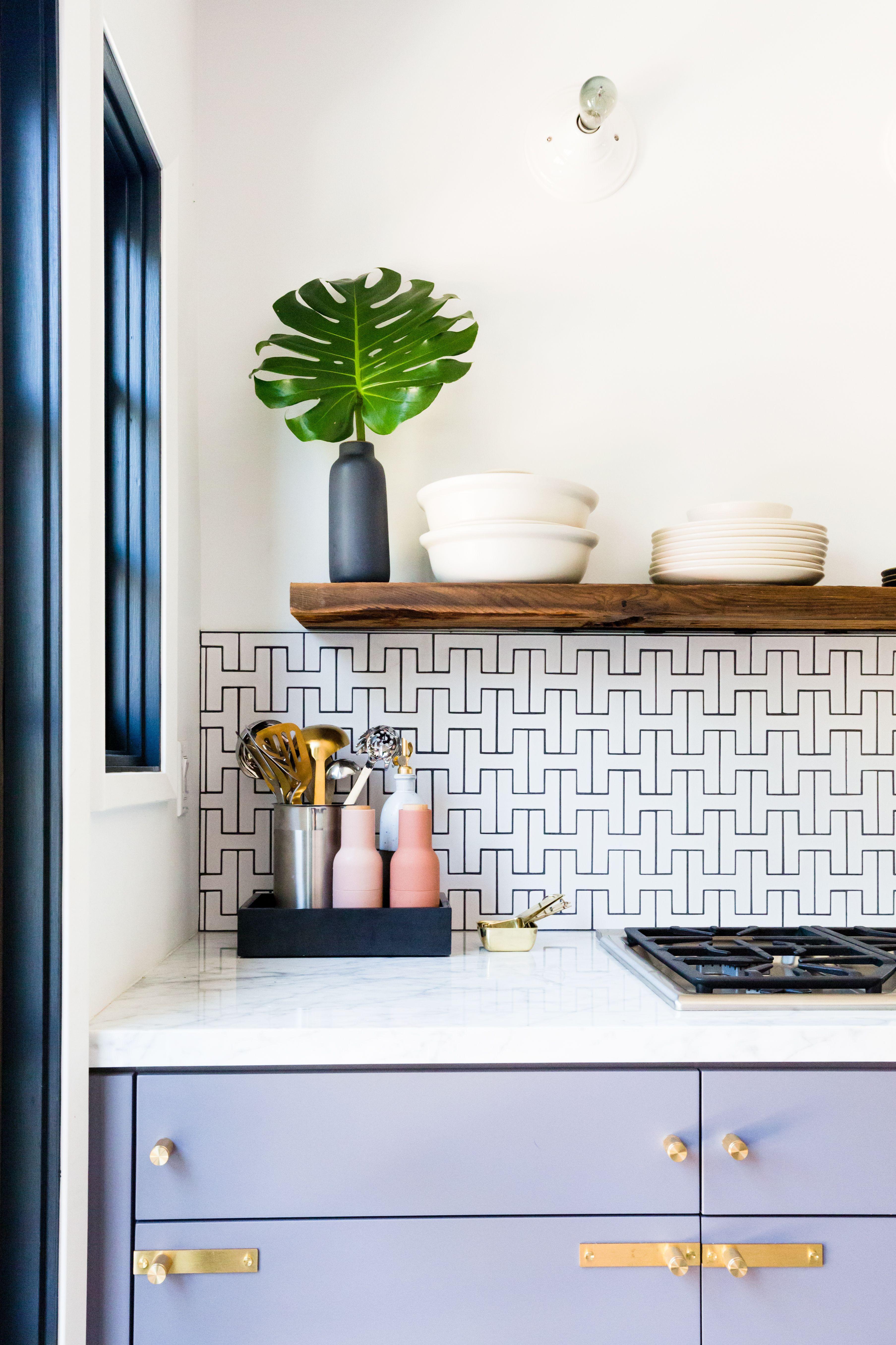 - Design Trends: Colorful Cabinetry And Tile Kitchen Backsplash