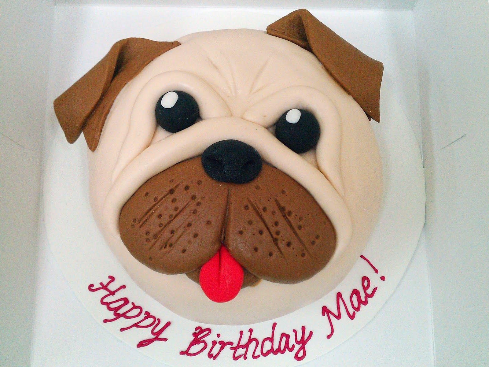 Dog Face Cake Google Search Pug Dog Cake Pug Cake