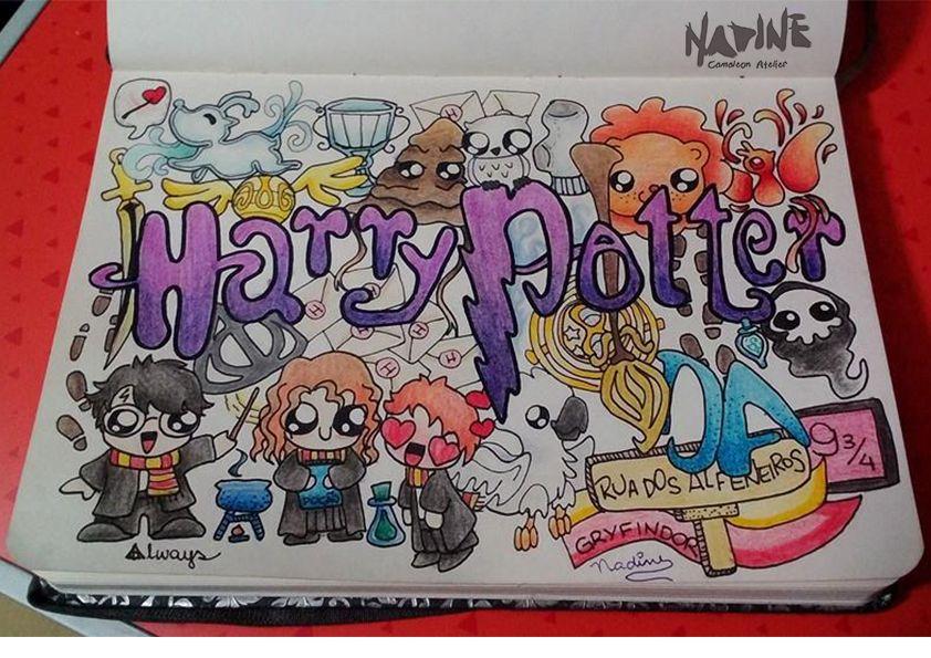 Fanart Doodle Da Saga Harry Potter творческий In 2019 Ideen