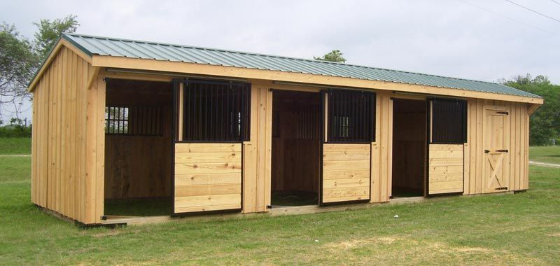 2 stall shed row | Barns | Pinterest | Barn, Horse and ...
