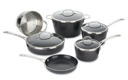 Cuisinart Gw 10 Greenware Nonstick 10 Piece Cookware Set Cuisinart Http Www Amazon Com Cookware Set Cookware Set Stainless Steel Nonstick Cookware