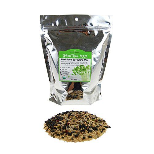 Organic Birdseed - 2.5 Lb - Sprouting Bird Seed Mix for S...
