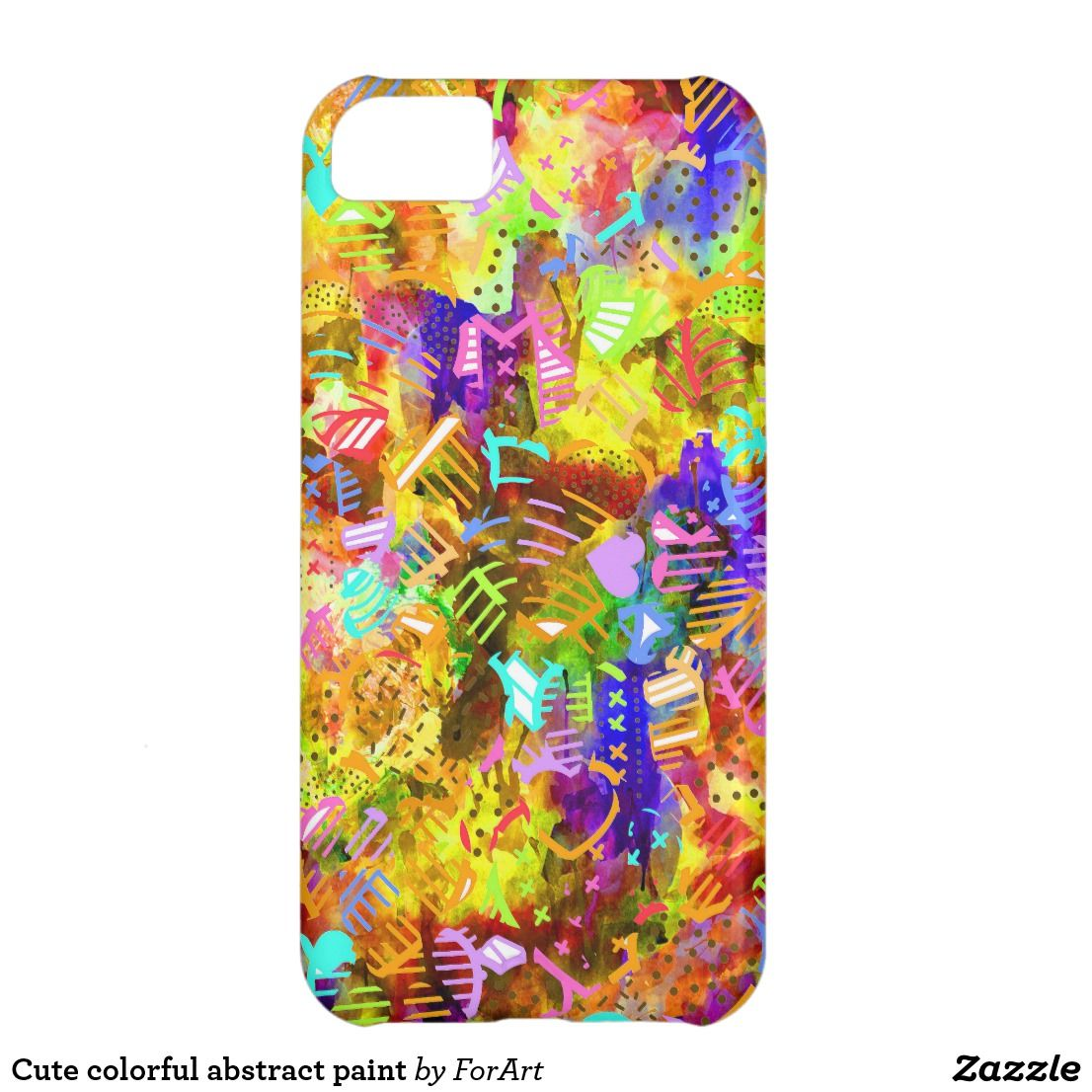 Cute colorful abstract paint casemate iphone case