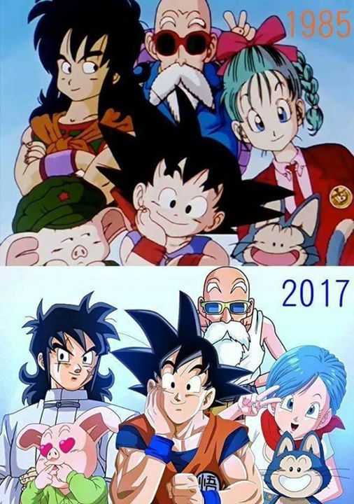Bulma Goku Roshi Yamcha Puar And Oolong Dragon Ball Goku