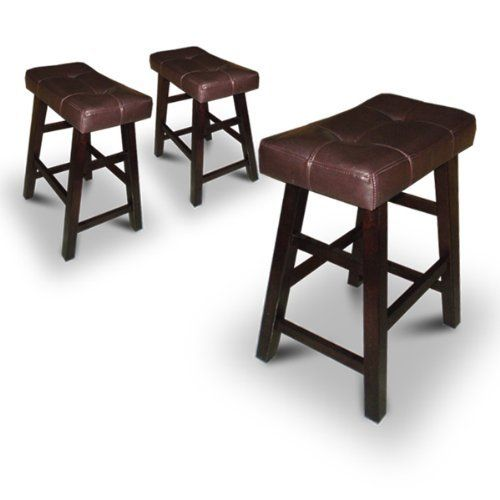 3 24 Saddle Back Espresso Cappuccino Bar Stools 162 62 Bar Stools Home Bar Furniture Stool
