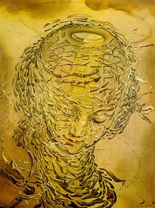 Raphaelesque Head Exploding and dynmic of Univers by Salvador Dali