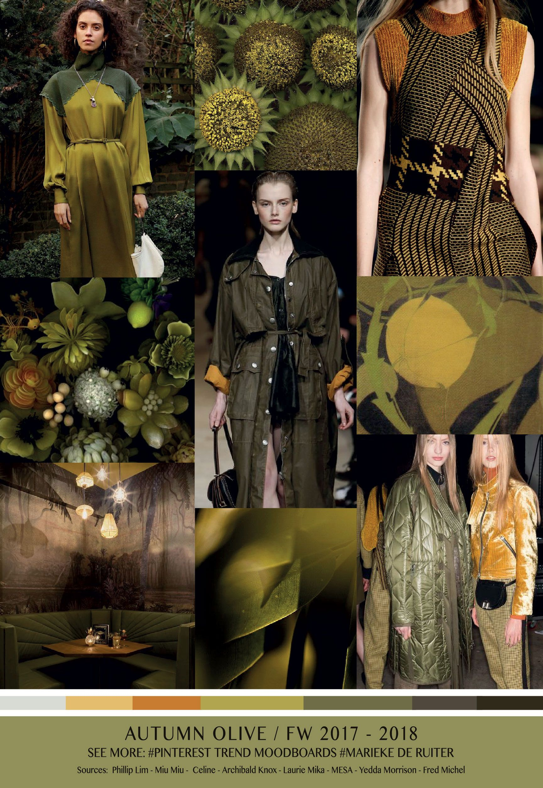 Autumn Olive Trend Fw 2017 2018 Marieke De Ruiter Trends Pinterest Autumn Winter