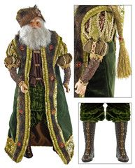 "Katherine's Collection Tapestry Christmas Collection 18"" Tapestry Santa Claus Doll Free Ship"