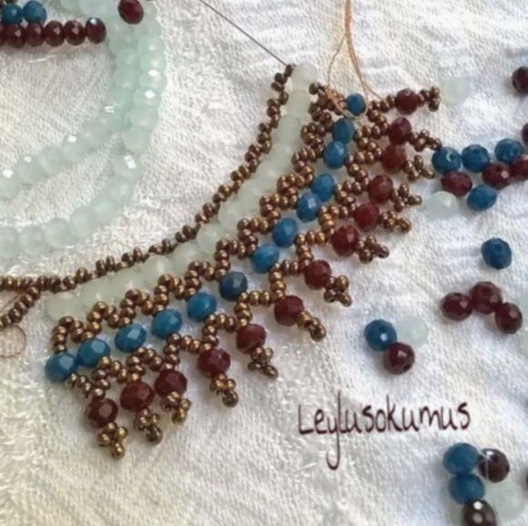 ✔ Jewelry Earrings Handmade Beads #golden #potd #preciousjewellery