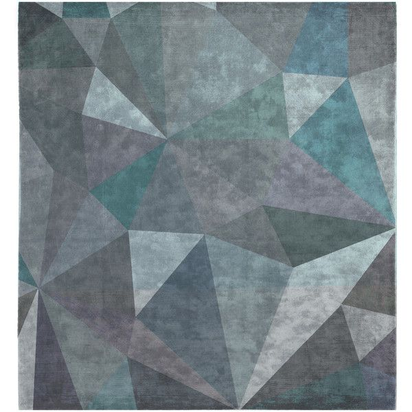 Quel Bordel Hand Knotted Rug In Grey Blue Design By Second Studio 1 800
