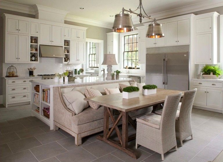 30 Good Breakfast Nook Design Ideas Kitchen Island With Bench Seating Kitchen Island Dining Table Banquette Seating In Kitchen