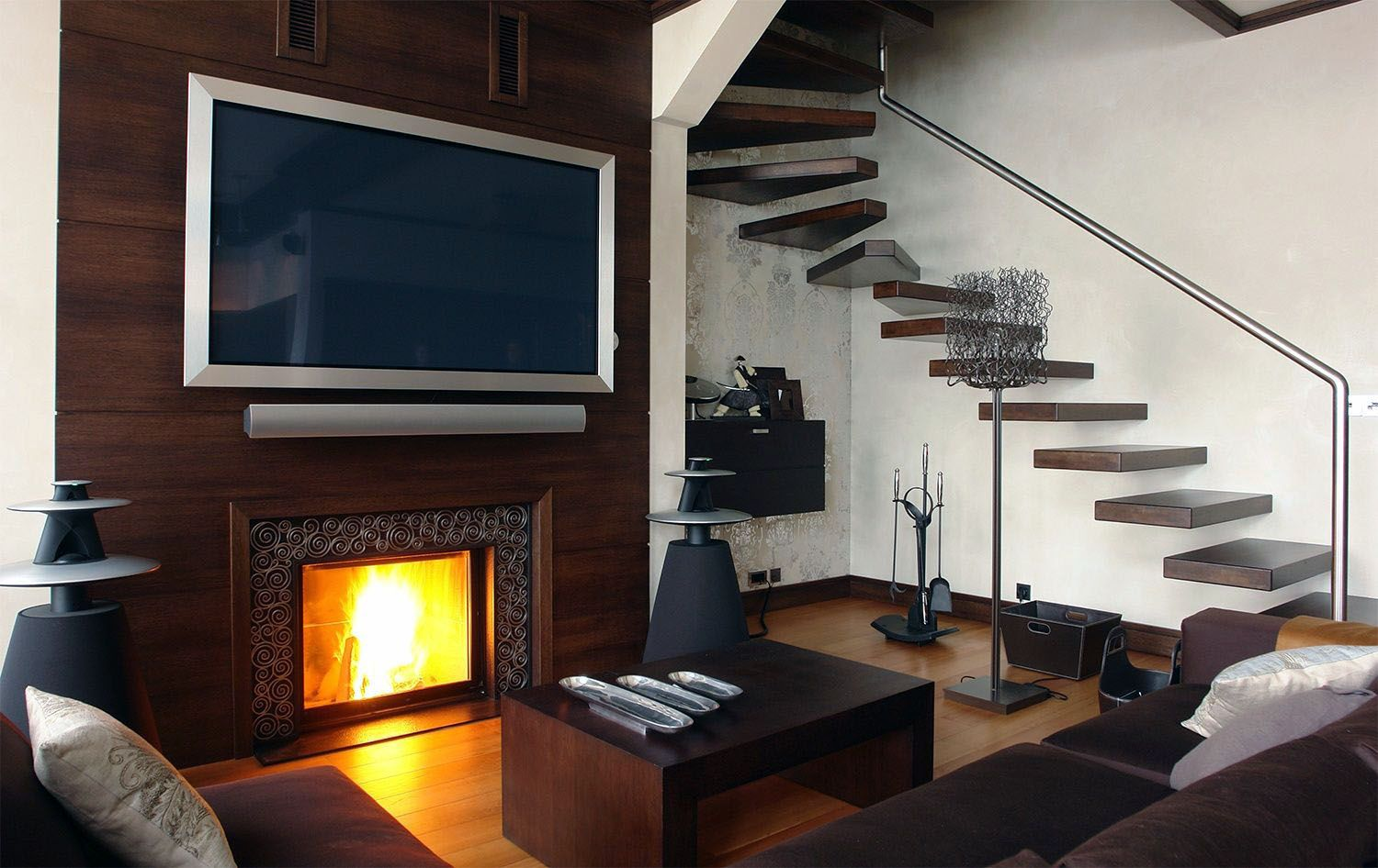 Savvy And Inspiring Decorating Ideas For Tv Over Fireplace You Ll Love Tv Above Fireplace Tv Over Fireplace Stairs Design Modern
