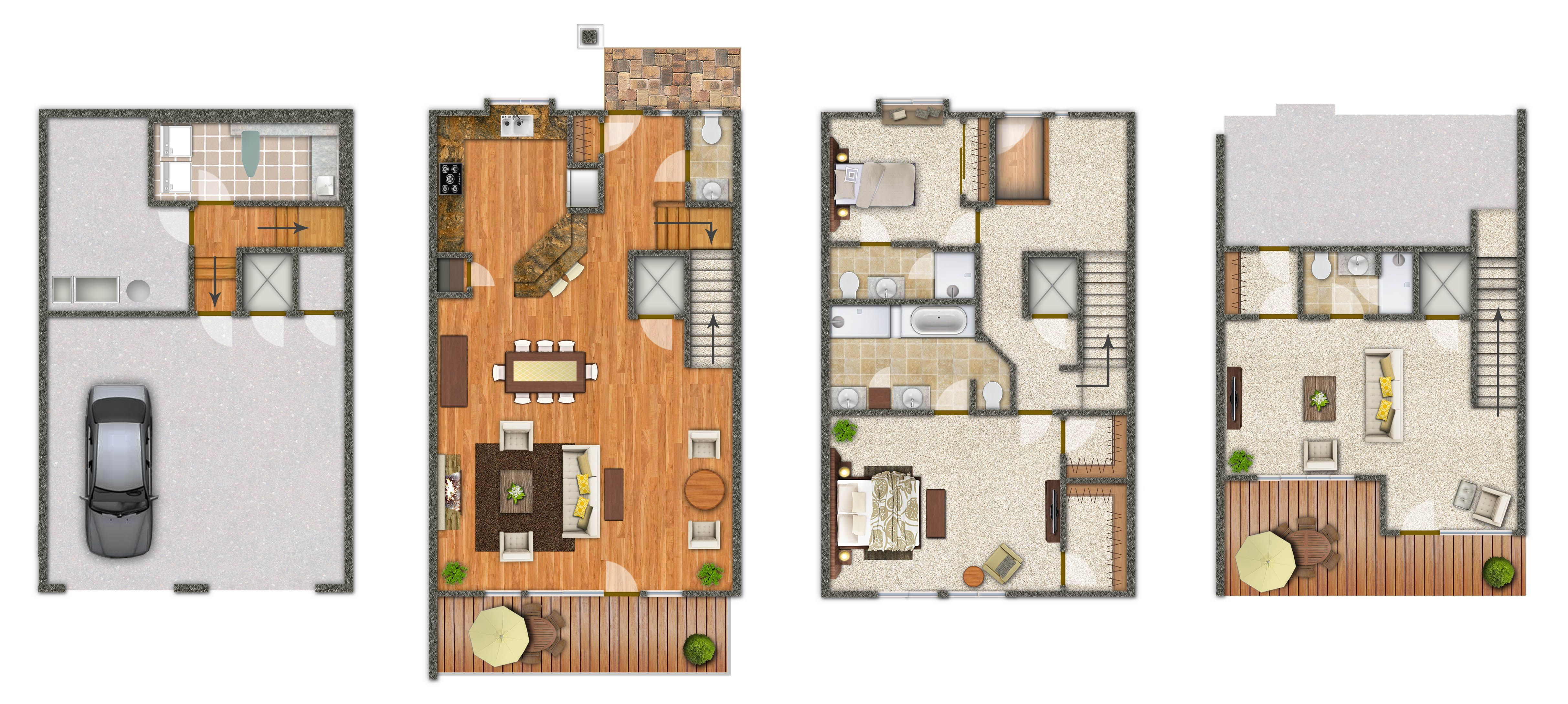 Townhome floor plans mariemont townhomes kenwood for Luxury townhome plans