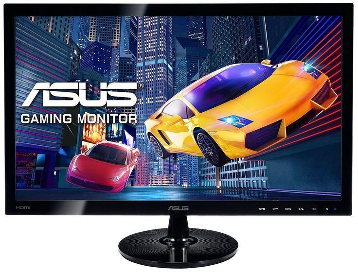 Asus Vs248hr 61 Cm 24 Zoll Monitor Vga Dvi Hdmi 1ms Reaktionszeit Schwarz Gaming Monitor Fur Videospie Led Bildschirm Reaktionszeit Stereo Lautsprecher