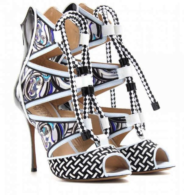 for nice for sale Peter Pilotto x Nicholas Kirkwood Printed Lace-Up Sandals sale 2015 new tk9eSviWe