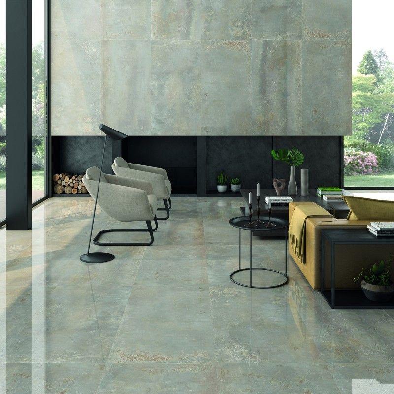 Twilight Silver 12x48 Metal Look Matte Porcelain Tile In 2020 Polished Porcelain Tiles Porcelain Tile Porcelain Floor Tiles