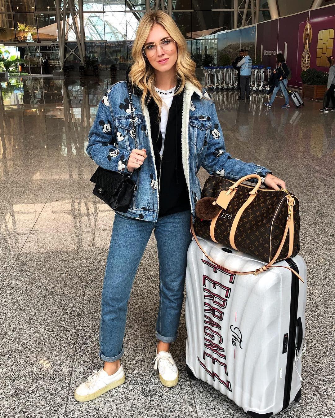 Chiara Ferragni Aeropuerto