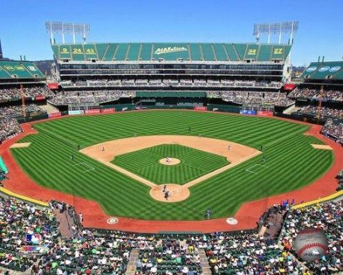 Oakland Alameda County Coliseum 2011 Photo Print 8 X 10 Oakland Athletics Athlete Baseball Field