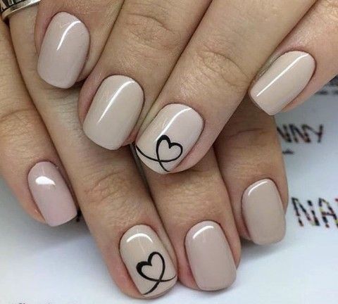 uñas💅  nail designs valentines neutral nail art designs
