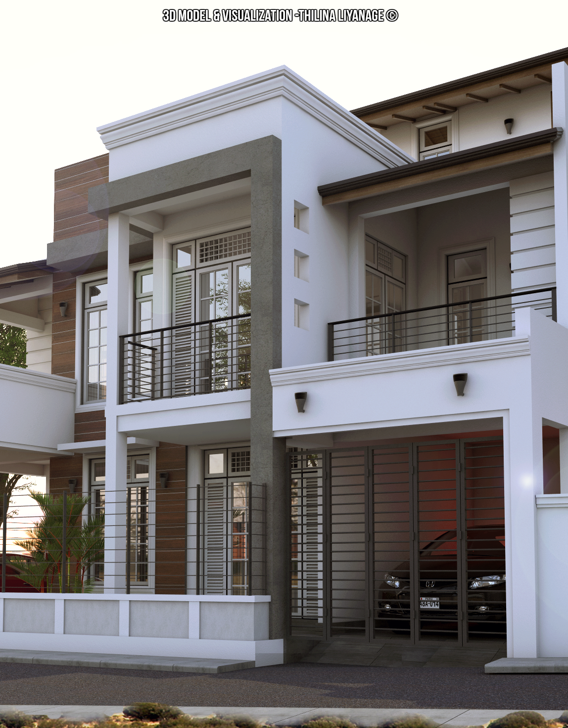 Home Design In Sri Lanka Proposed House At Nugegoda Sri Lanka 3d Model And Visual Made With