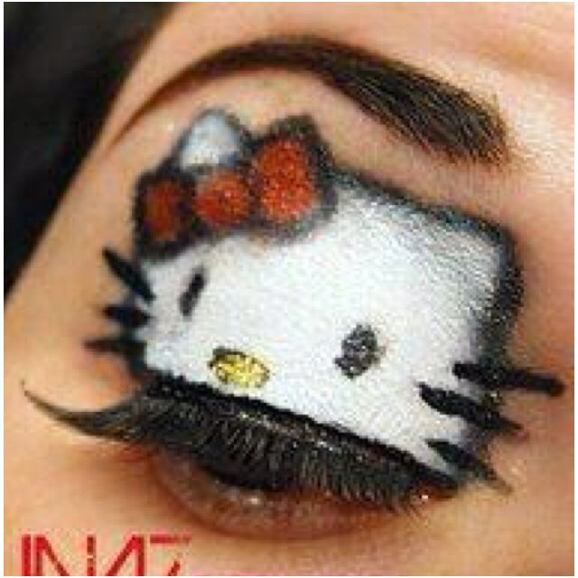 Hello kitty makeup and like OMG! get some yourself some pawtastic adorable cat apparel!
