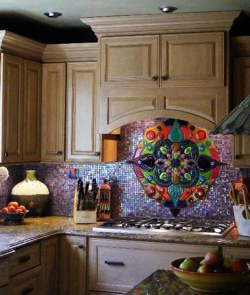 Gorgeous Backsplash Bohemian Kitchen Kitchen Mosaic Mosaic Glass