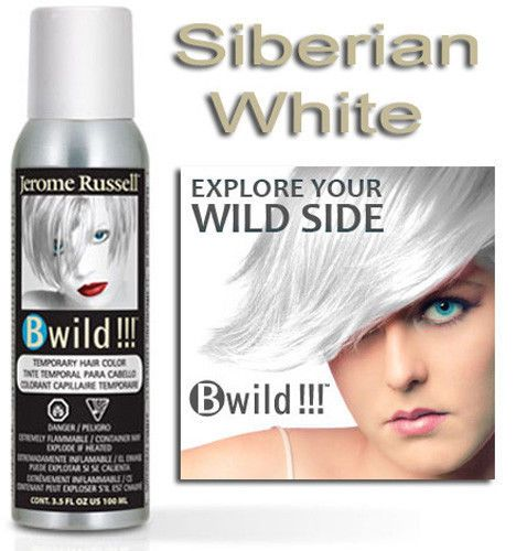 Jerome Russell B Wild Temporary Hair Color Spray Siberian White 3 5 Oz Hair Color Spray Wild Hair Color Hair Color