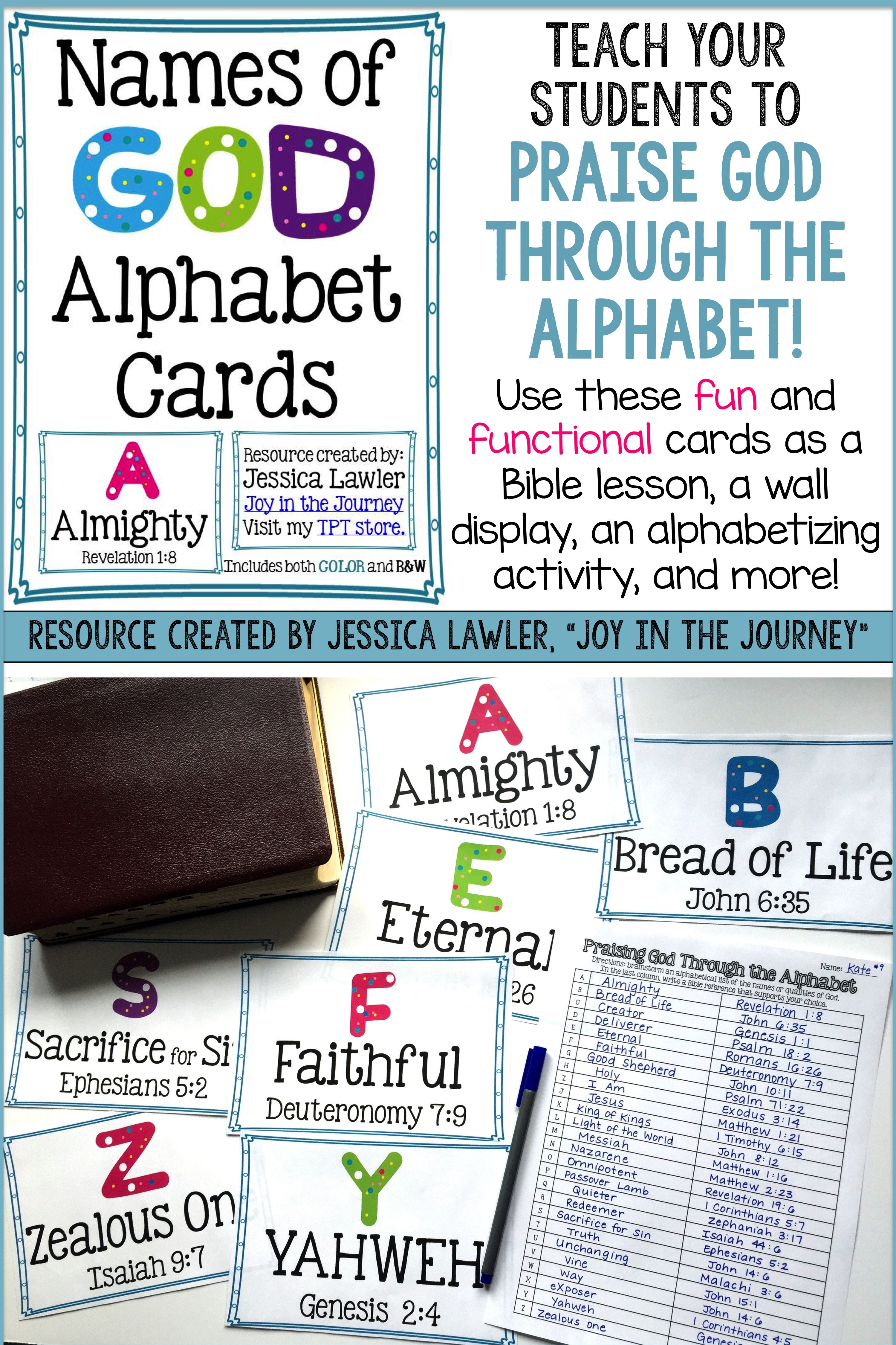 Alphabetical names of god