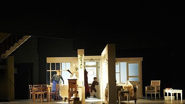 A Doll S House Set Designs By Ian Macneil Theatre Content From Live Design Magazine Doll House Set Design House Design