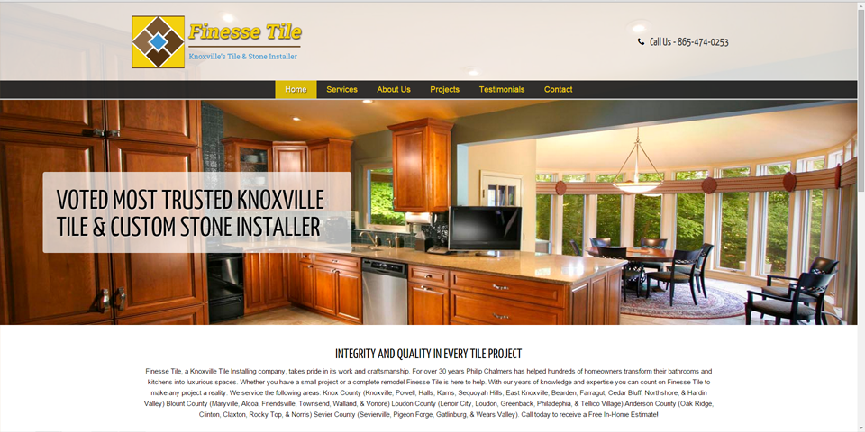 Finesse Tile by JSH Web Designs - Knoxville Web Design Firm - Professional Web Designs at Affordable Prices. 865-407-0006