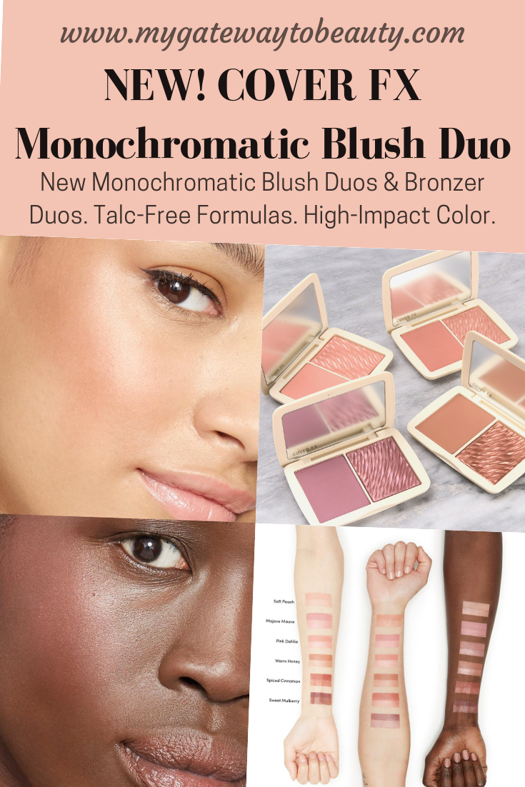 Cover Fx Launched Their New Monochromatic Blush Duos Bronzer Duos These Are Talc Free Formulas Wit Natural Skin Care Diy Cover Fx Natural Skin Care Remedies